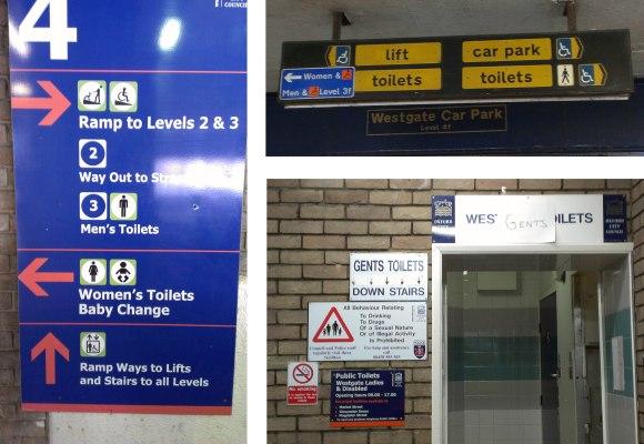 Westgate Centre signs