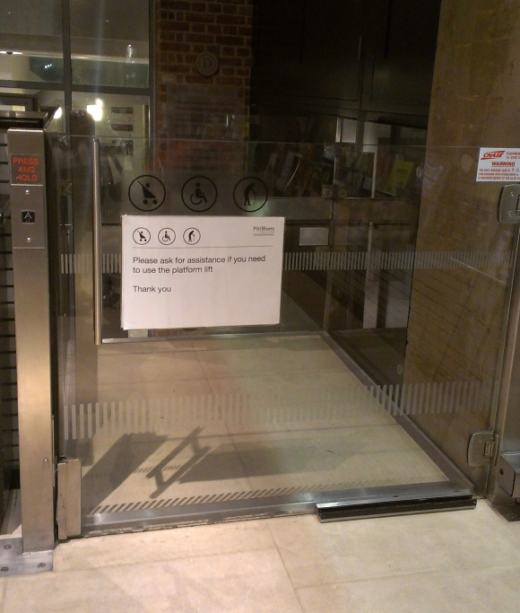 Pitt Rivers lift