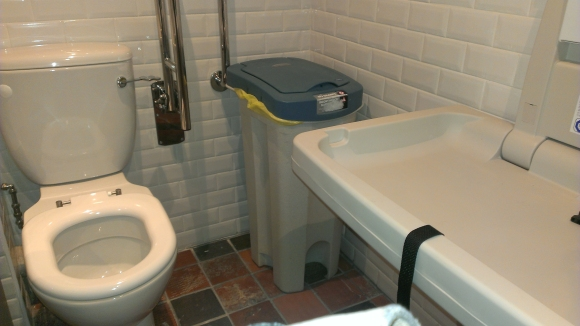 Cleaver baby-changing facilities
