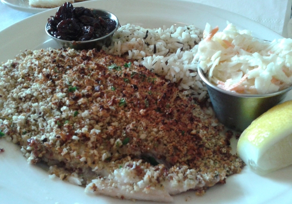 Blue Point Grill crusted tilapia