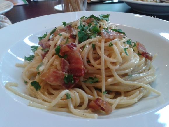 Carluccio's spaghetti carbonara