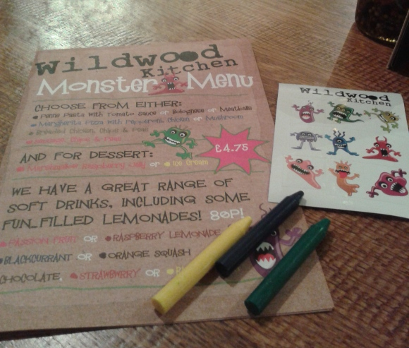 Wildwood Kitchen kids' menu